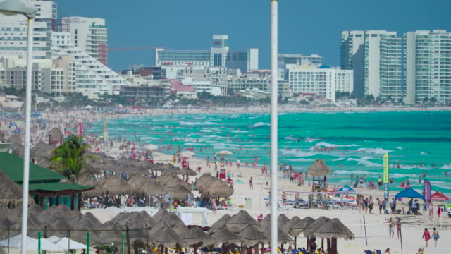 cancun beach - quintana roo stock videos and b-roll footage