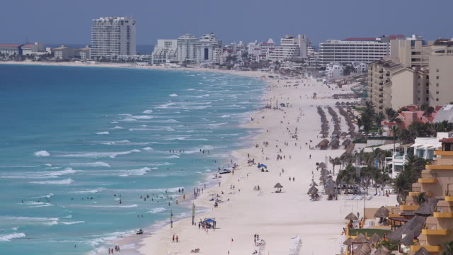 cancun - tourist resort stock videos and b-roll footage