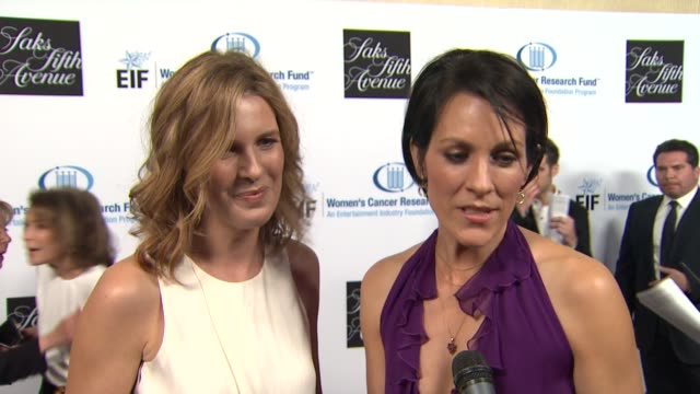 Candace Nelson Annabeth Gish on what brings them out tonight at An Unforgettable Evening Benefiting The Entertainment Industry Foundation's Women's...