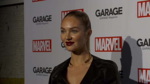 Candice Swanepoel at Garage Magazine and Marvel Turn Supermodels Into Super Heroes on February 11 2016 in New York City