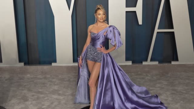 vídeos de stock, filmes e b-roll de candice swanepoel at vanity fair oscar party at wallis annenberg center for the performing arts on february 09 2020 in beverly hills california - vanity fair