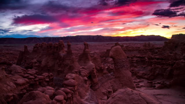 ds candid goblin valley at dusk - sandy utah stock videos and b-roll footage