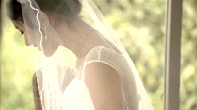 candid : portrait of bride - wedding dress stock videos and b-roll footage