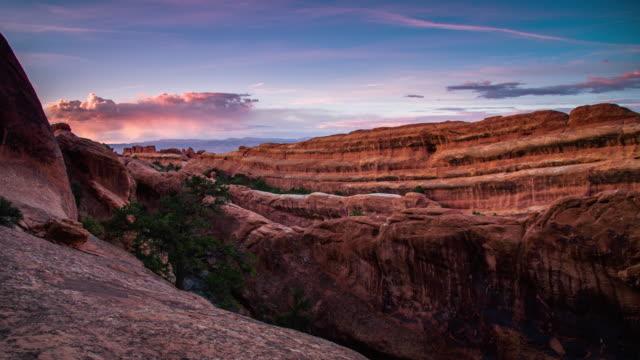 DS Candid Schuss von Felsen im Arches National Park