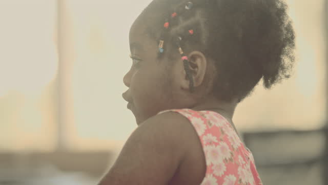 candid : trendy child - braided hair stock videos & royalty-free footage