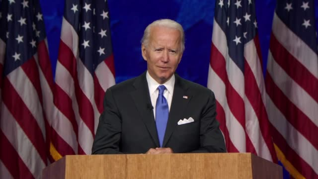 candidate for president joe biden says at the start of acceptance speech that ella baker, a giant in the civil rights movement left the wisdom to... - president stock videos & royalty-free footage