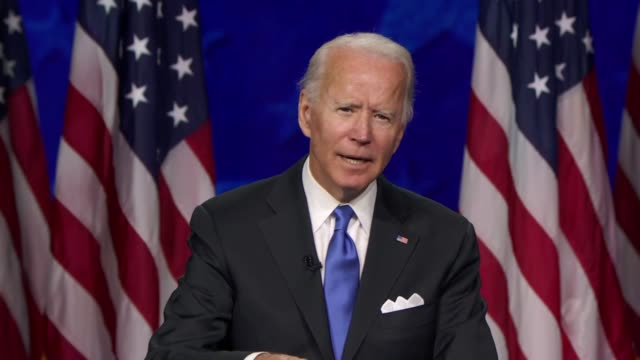 candidate for president joe biden says in his nomination acceptance speech of the coronavirus pandemic that he would develop and deploy rapid tests... - nomination stock videos & royalty-free footage