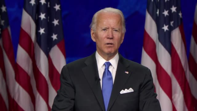 candidate for president joe biden says in his nomination acceptance speech that president donald trump had failed in his most basic duty to the... - ideas stock videos & royalty-free footage