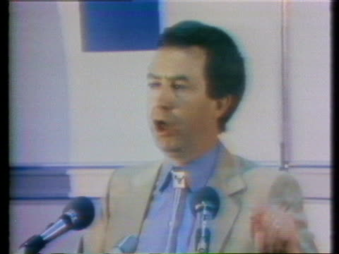 candidate joe clark campaigns in the 1979 canadian political campaign for prime minister. - (war or terrorism or election or government or illness or news event or speech or politics or politician or conflict or military or extreme weather or business or economy) and not usa stock videos & royalty-free footage