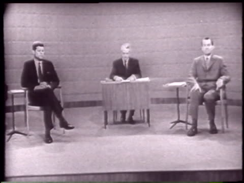 candidates introduced by howard k smith - john f. kennedy politik stock-videos und b-roll-filmmaterial