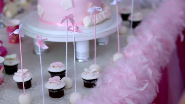 candies for a baby shower - cross stock videos & royalty-free footage