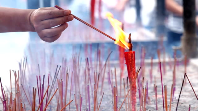 candle flame - temple body part stock videos and b-roll footage