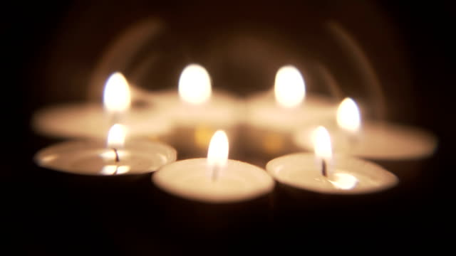 candle light background - tea light stock videos and b-roll footage