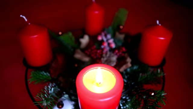 Candle of an advent wreath