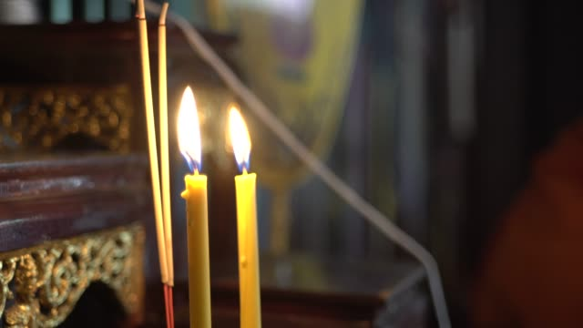 candle - christmas decore candle stock videos & royalty-free footage