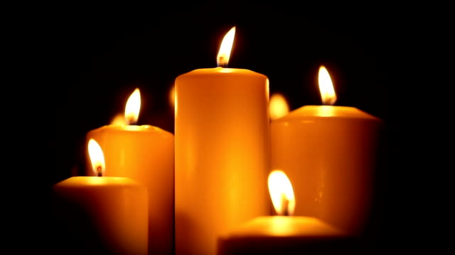 candled burning in the night - candle stock videos and b-roll footage