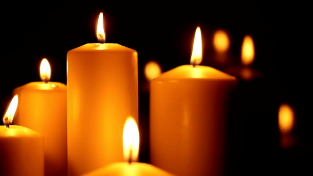 candled burning in the night - candle stock videos & royalty-free footage