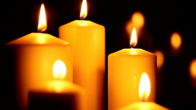 candled burning in the night - advent stock videos & royalty-free footage