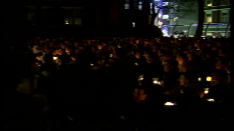 candlelight vigil held for gay murder victim david morley; england: london: soho: ext/night mourners at vigil for murdered gay man david morley gv... - murder victim stock videos & royalty-free footage