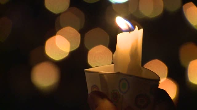 kcpq candlelight vigil held for victims of umpqua community college shooting on october 1 2015 in roseburg oregon - community college stock videos & royalty-free footage