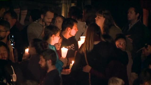 ktxl candlelight vigil held for victims of umpqua community college shooting on october 1 2015 in roseburg oregon - community college stock videos & royalty-free footage