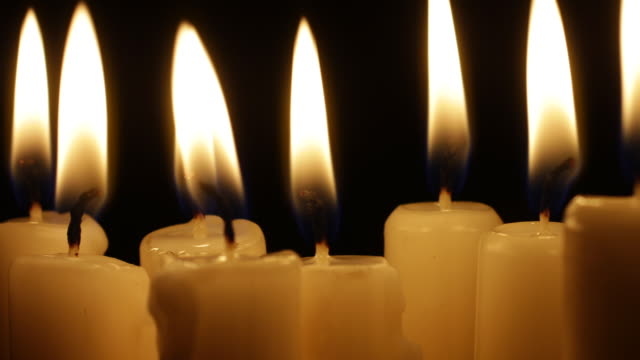 candles burning and flickering - candle stock videos & royalty-free footage