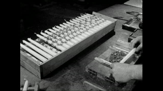 candles decorated by hand; 1958 - ornate stock videos & royalty-free footage