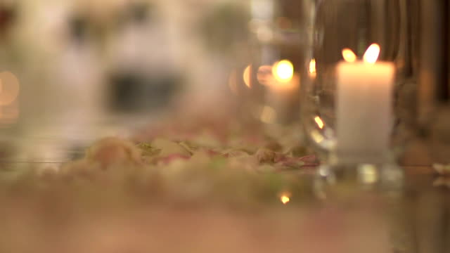 Candles on the floor in church - Stock Footage