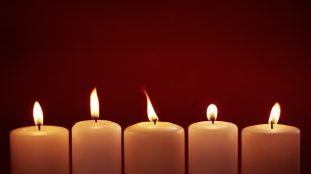 candles - five objects stock videos & royalty-free footage