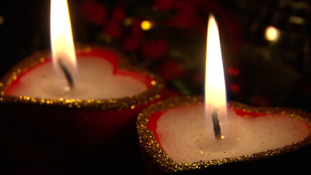 candles - christmas decore candle stock videos & royalty-free footage