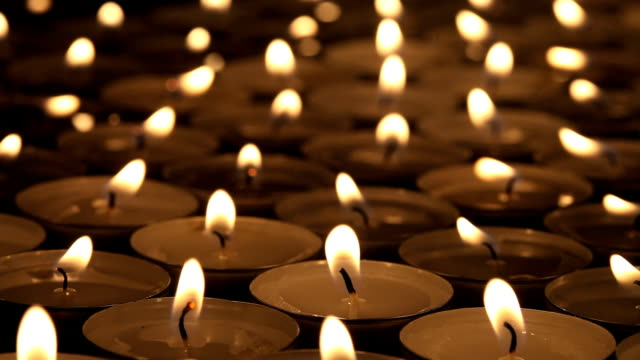 candles - memorial event stock videos & royalty-free footage