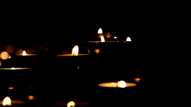 candles (hd) - large group of objects stock videos & royalty-free footage