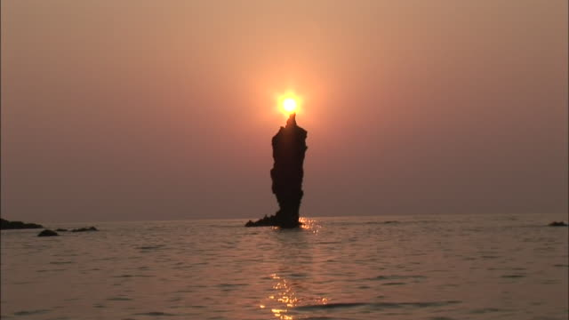 candle-shaped islet / oki islands - shimane prefecture stock videos & royalty-free footage