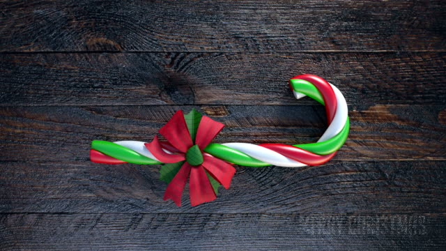 Candy canes gift for christmas 4K resulation