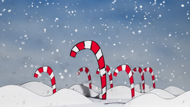 candy canes in a winter wonderland - full - candy cane stock videos & royalty-free footage