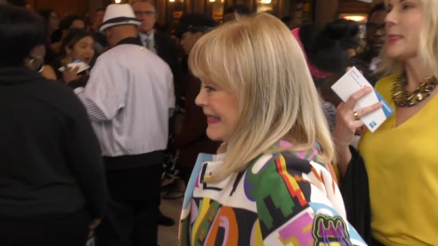 candy spelling outside the color purple opening night at the pantages theatre in hollywood in celebrity sightings in los angeles, - パンテージスシアター点の映像素材/bロール