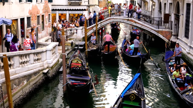 stockvideo's en b-roll-footage met canel met traditionele venetain gebouwen op de achtergrond in venetië - famous place