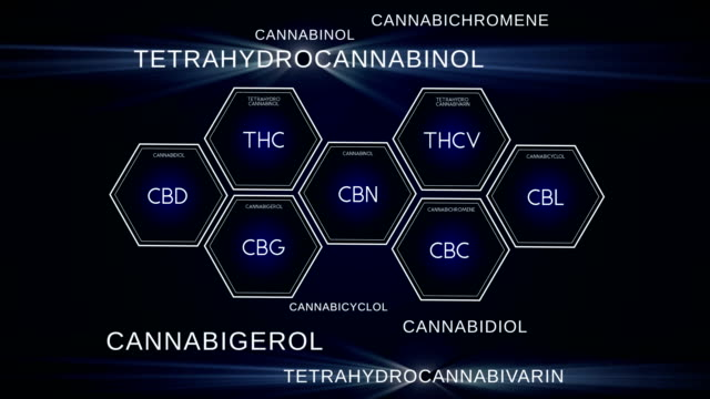 Cannabinoid Science. Different compounds of marijuana