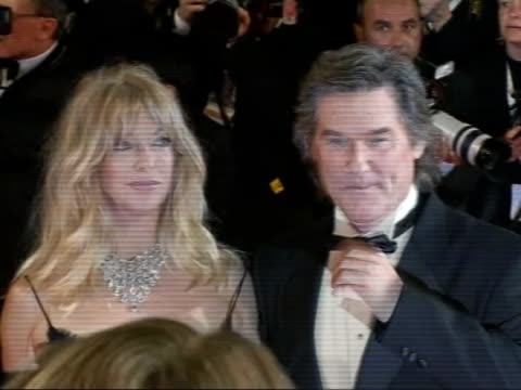 'Death Proof' premiere Goldie Hawn posing next Kurt Russell