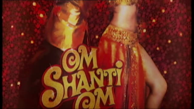 bollywood deals name 'bollywood' on stand close shots of film posters eros stand at festival close shot film poster staff working at stand sandeep... - bollywood stock videos and b-roll footage