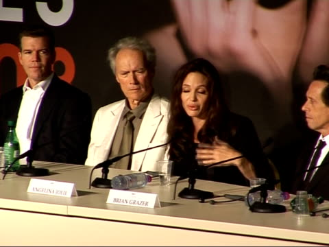 'Changeling' press conference Clint Eastwood and Angelina Jolie press conference continued SOT