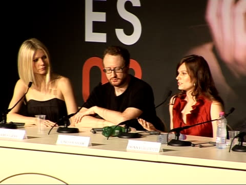 Gwyneth Paltrow / James Gray press conference for 'Two Lovers' Paltrow press conference SOT On how she conceived of the film Vanessa Shaw press...