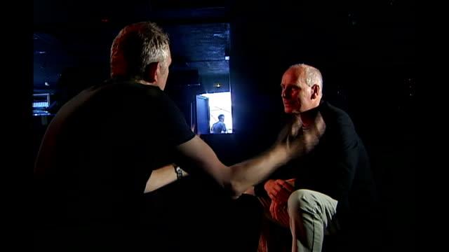 ian curtis biopic takes cannes by storm anton corbin speaking with glass anton corbin interview sot glass listening - 伝記映画点の映像素材/bロール