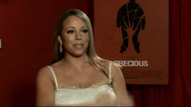 mariah carey film 'precious' int mariah carey interview sot had to lose everything of me that is celebrity and singer / shedding layers of mask... - mariah carey stock-videos und b-roll-filmmaterial