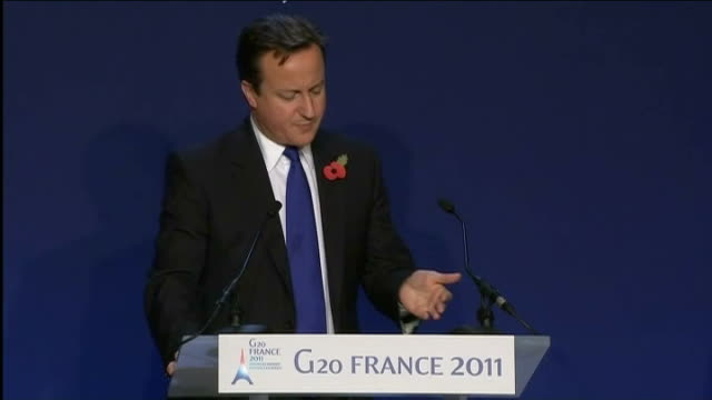 no practical action agreed on euro crisis cameron press conference sot institutions of the euroz0ne have to take all the actions necessary to... - financial accessory stock videos and b-roll footage