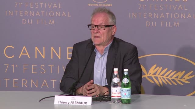 cannes general delegate thierry fremaux during the opening press conference of the 71st edition of the film festival announces that an all women red... - 71st international cannes film festival stock videos & royalty-free footage