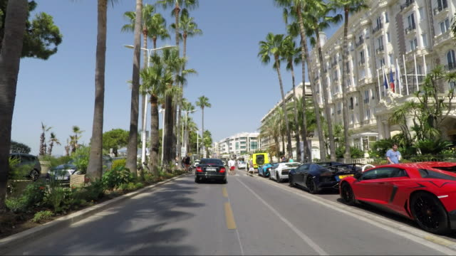 cannes le croisette drive - cannes stock videos & royalty-free footage