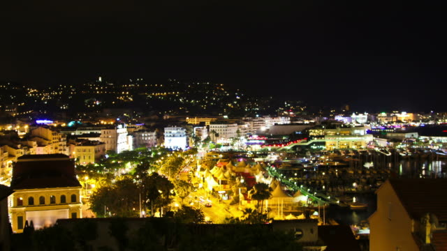cannes night - cannes stock videos & royalty-free footage