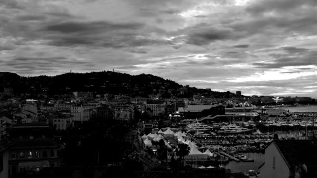 cannes sunrise pan - international cannes film festival stock videos and b-roll footage