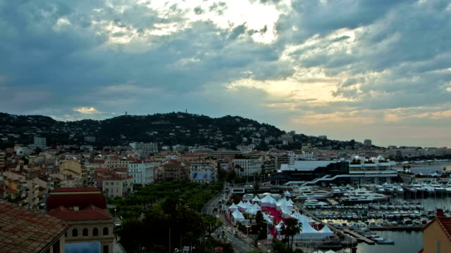 cannes sunrise - international cannes film festival stock videos & royalty-free footage